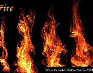 20 Fire PS Brushes abr.Vol.4 Photoshop brush