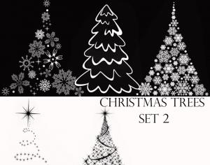 Christmas Tree brushes Set 2 Photoshop brush
