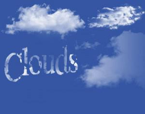 clouds in the pure sky Photoshop brush