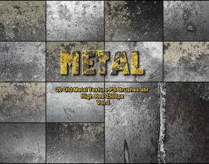 20 Old Metal Texture PS Brushes abr vol 1 Photoshop brush