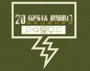 Komika Bubble Brush Photoshop brush