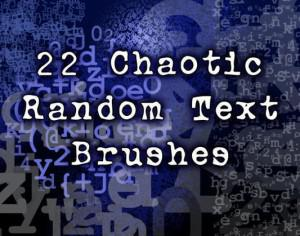 22 Chaotic Random Text Brushes Photoshop brush