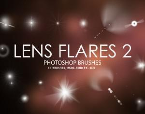 Free Lens Flares Photoshop Brushes 2 Photoshop brush