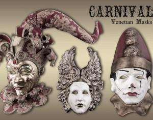 20 Carnival Mask PS Brushes abr.vol.7 Photoshop brush