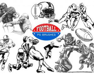 20 Football Ps Brushes abr. vol 8 Photoshop brush