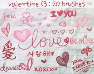 Love Doodles Brushes 3 Photoshop brush