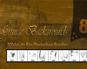8 Hi-Res Grunge Backgrounds Brushes Photoshop brush
