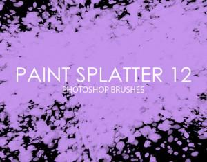Free Paint Splatter Photoshop Brushes 12 Photoshop brush