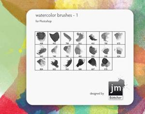 20 Watercolor Brushes V1 Photoshop brush