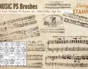 Piano Partiture PS Brushes  Photoshop brush