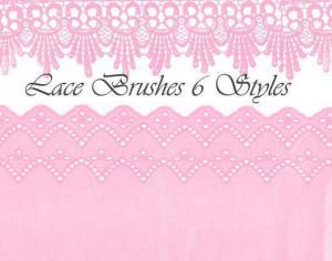 Lace Brushes 6 Styles Photoshop brush