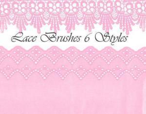 Lace Brushes 6 Styles Photoshop brush