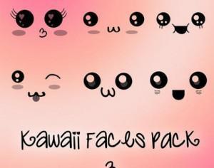 Kawaii Faces Brushes  Photoshop brush