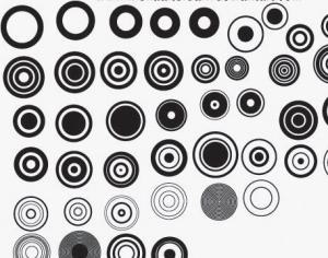 Vector Circles Photoshop brush