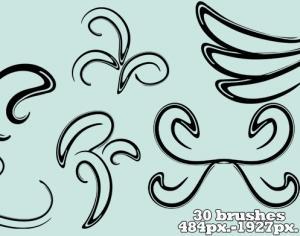 Big Thick Swirls Photoshop brush