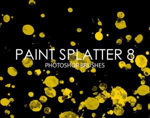Free Paint Splatter Photoshop Brushes 8 Photoshop brush