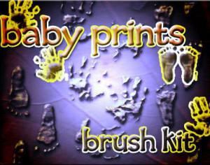 baby prints brush kit Photoshop brush