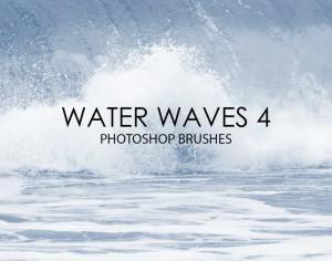 Free Water Waves Photoshop Brushes 4 Photoshop brush