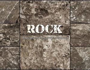 20 Rock Texture PS Brushes abr vol.8 Photoshop brush