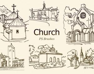 20 Church PS Brushes abr. vol.5 Photoshop brush