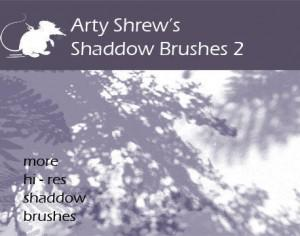 Arty Shrew's Shadows Brushes 2 Photoshop brush