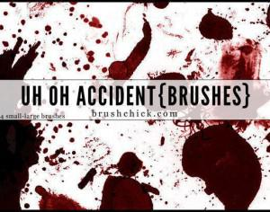 Uh Oh Accident, Splatter Brush Pack Photoshop brush