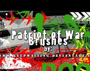 Patriot of War Brushes Photoshop brush