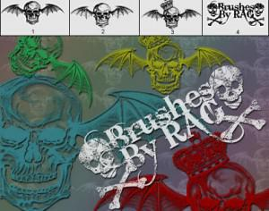 Skull Brush Pack  Photoshop brush