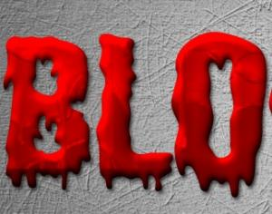 Blood Style Photoshop brush