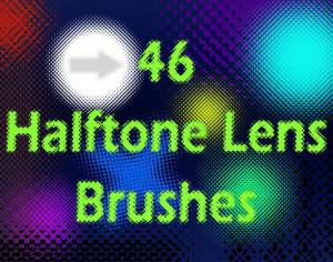 46 Halftone Lens Brushes Photoshop brush