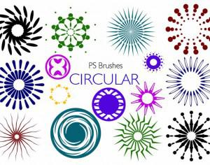 20 Circular PS Brushes abr. Vol.7 Photoshop brush
