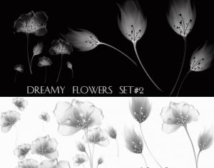 Dreamy Flowers set 2 Photoshop brush