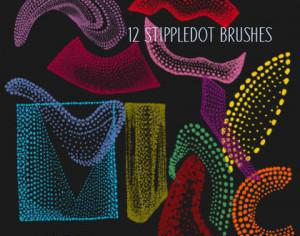Alien Stippledot Doodle Brush Pack Photoshop brush