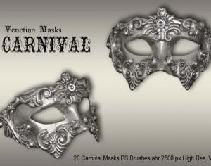 20 Carnival Masks PS Brushes abr.vol.1 Photoshop brush