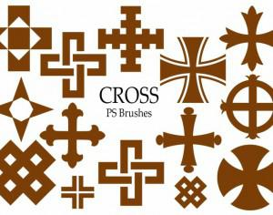 20 Cross PS Brushes abr.Vol.8 Photoshop brush