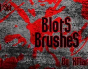 Blots Brushes By XMarwanX Photoshop brush