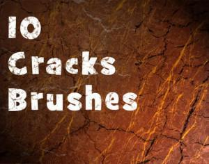 10 Hi Def Cracks Brushes Photoshop brush