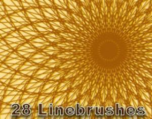 28 Graphic Line Brushes Photoshop brush