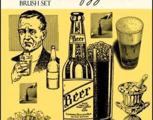 Beer and Wine Photoshop brush