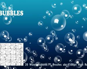 Water Bubbles PS Brushes abr. Photoshop brush