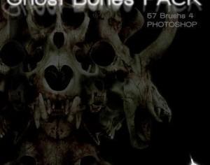 Ghost Bones Brush Pack Camisole Pictures Photoshop brush