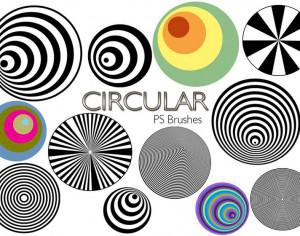 20 Circular PS Brushes abr. Vol.3 Photoshop brush