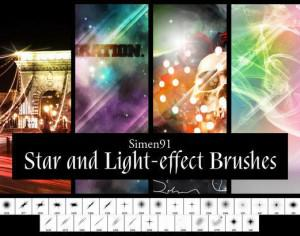 Simen 91's Star and Light-effect Brushes Photoshop brush
