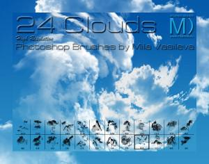 24 Free Clouds PS Brushes Photoshop brush