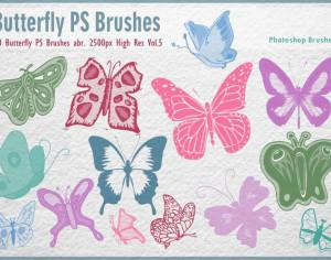 Butterfly PS Brushes abr. Vol.5 Photoshop brush