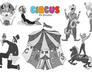 20 Circus Ps Brushes  Photoshop brush
