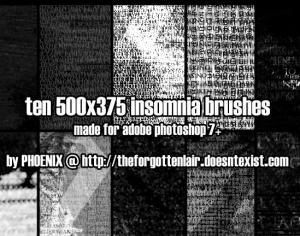 Insomnia Brushes Photoshop brush