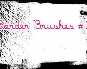 Border Brushes 1 Photoshop brush