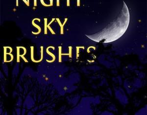Night Sky Brushes Photoshop brush