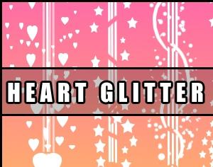 Heart Glitter Brush Photoshop brush